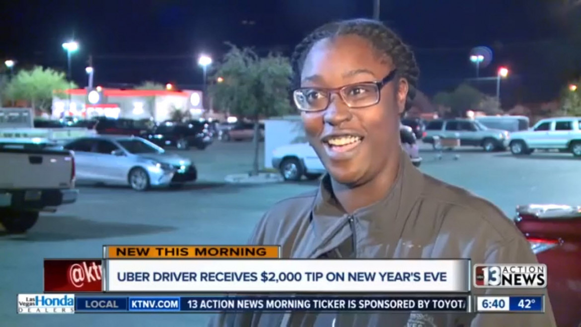Las Vegas Uber Driver, Single Mom Seeks Family Who Tipped Her $2K on New Year's Eve