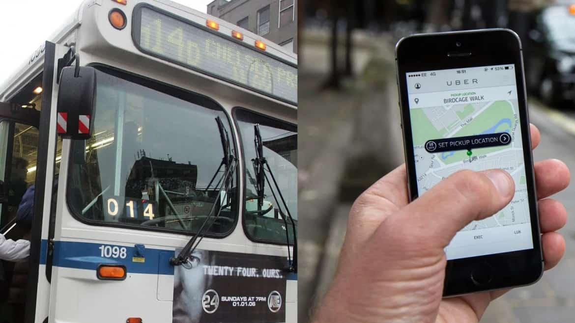 Uber Launches First-in-the-Nation Public Transportation Timer